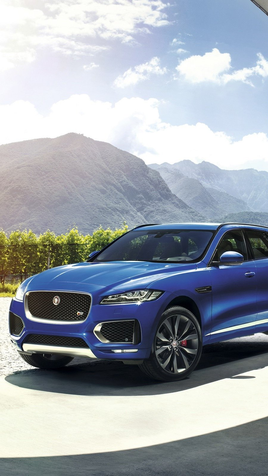 Wallpaper Jaguar F Pace Vertical