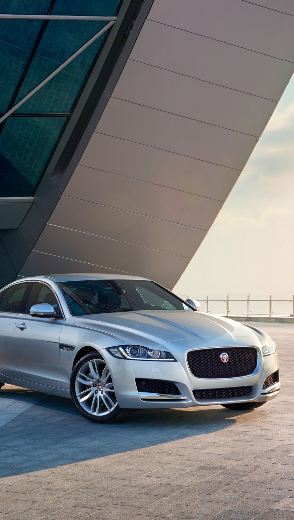 Wallpaper Jaguar XF Prestige gray Vertical