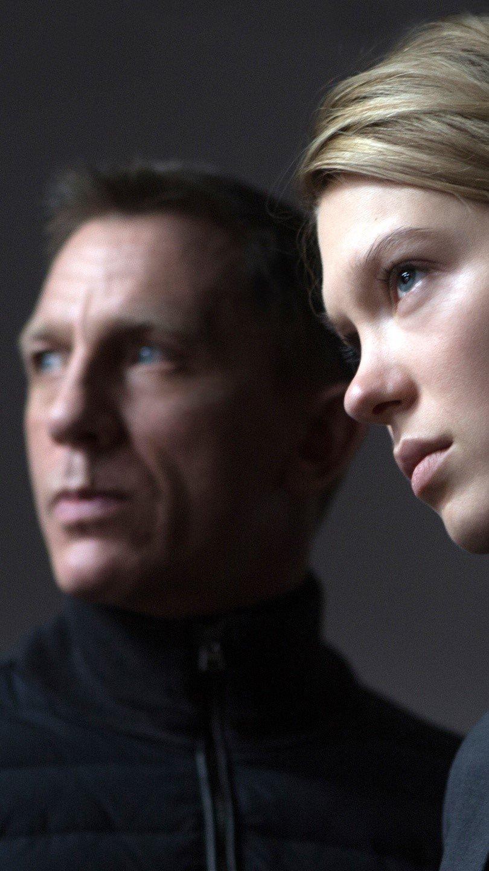 Fondos de pantalla James Bond y Madeleine Swann en Spectre Vertical