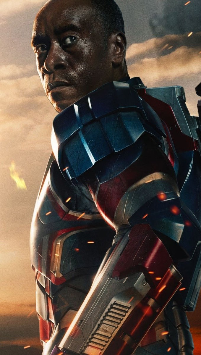 Wallpaper James Rhodes in Iron Man 3 Vertical