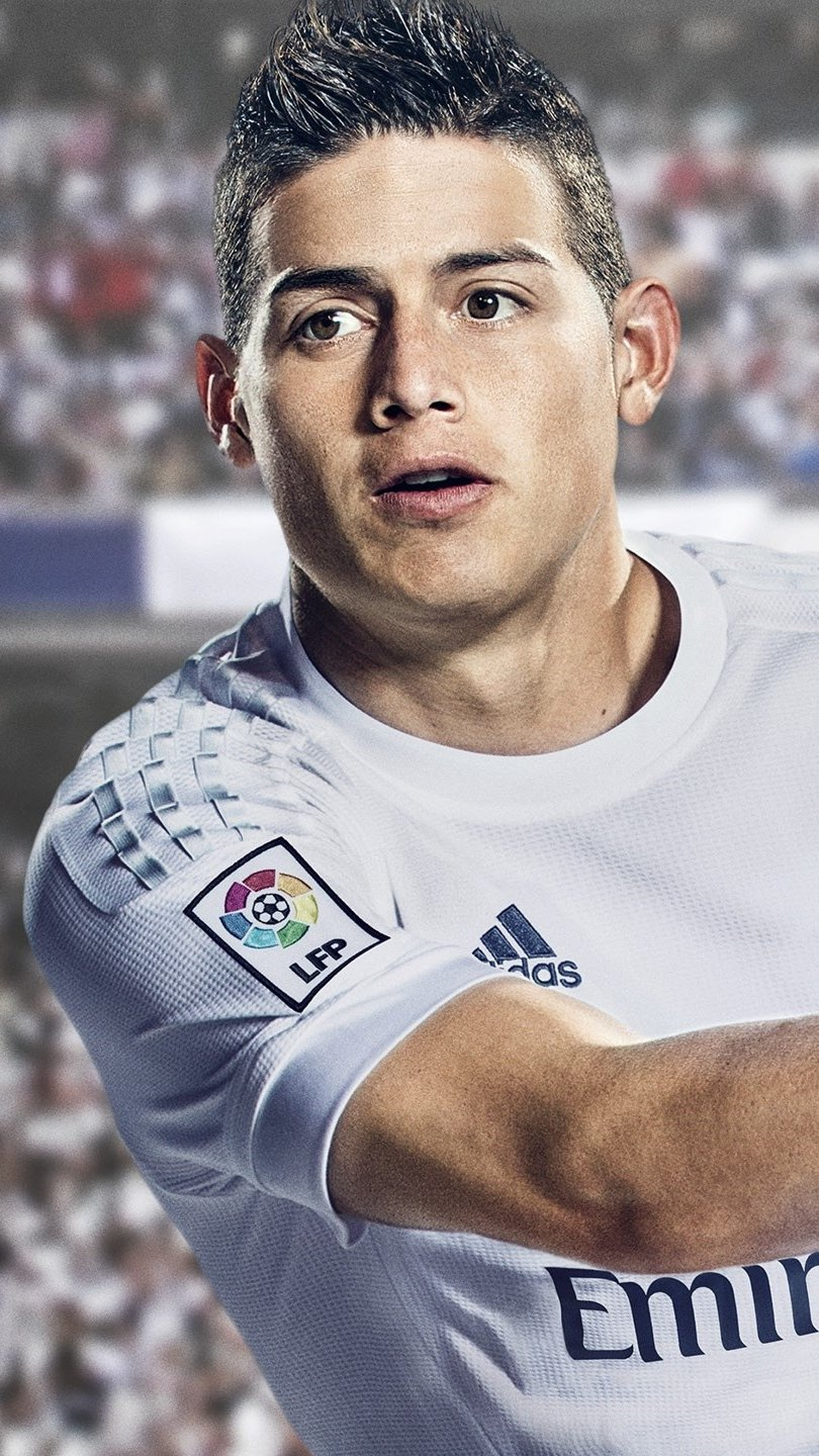 Wallpaper James Rodriguez in Fifa 17 Vertical