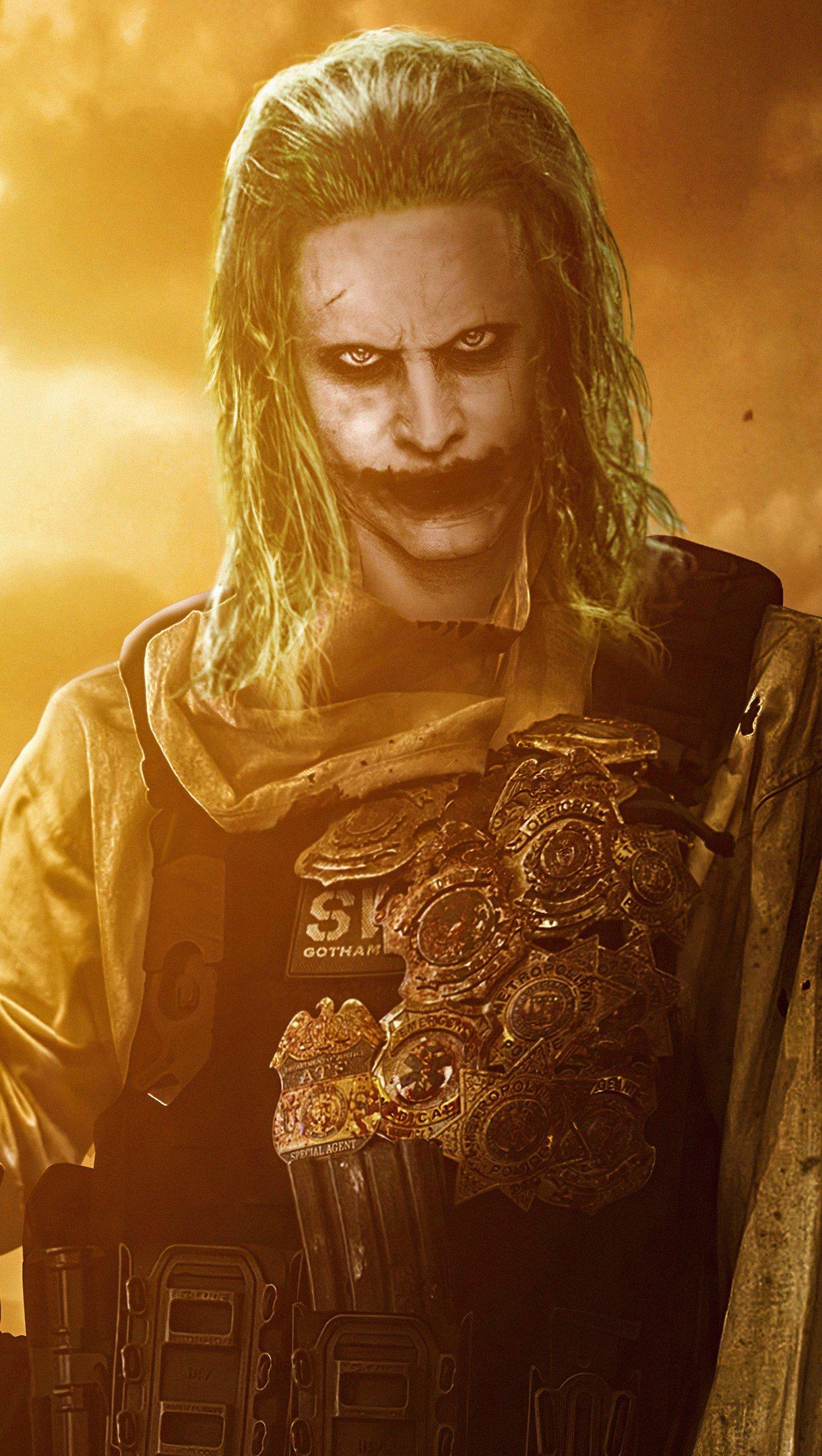 Fondos de pantalla Jared Leto como el Guasón en Liga de la justicia 2021 Vertical