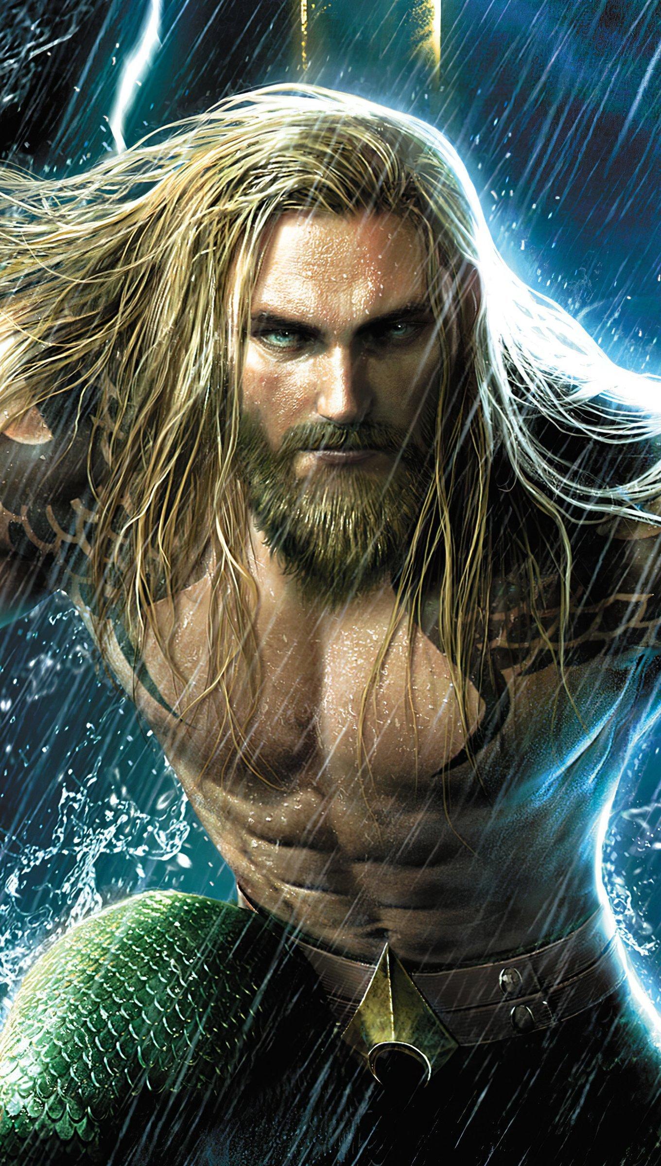 Fondos de pantalla Jason Momoa como Aquaman Vertical