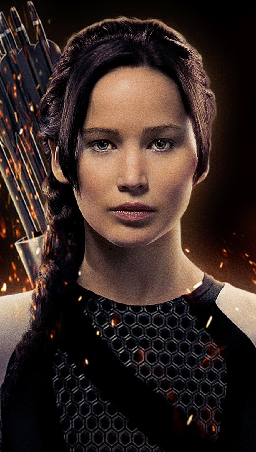 Wallpaper Jennifer Lawrence as Katniss Vertical