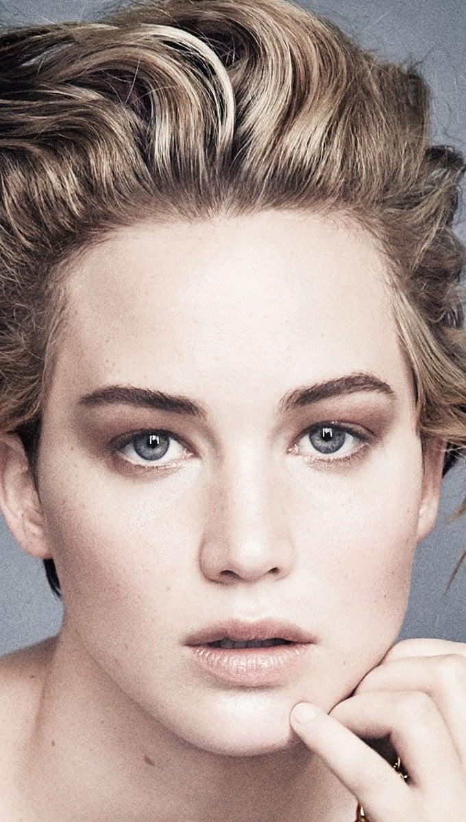 Wallpaper Jennifer Lawrence with short hair Vertical