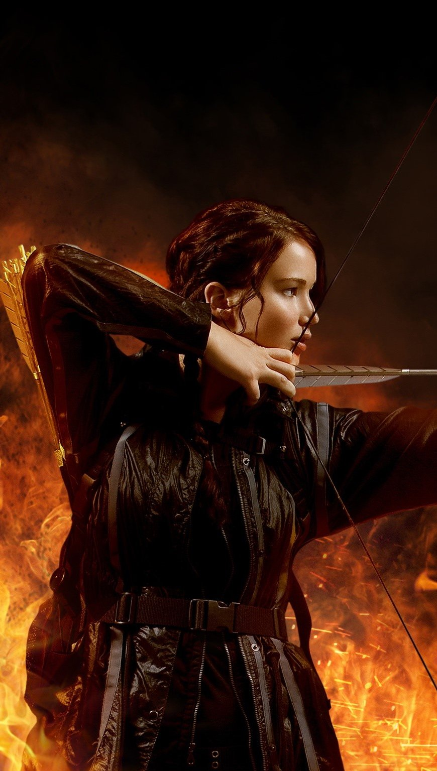 Wallpaper Jennifer Lawrence in The Hunger Games Vertical