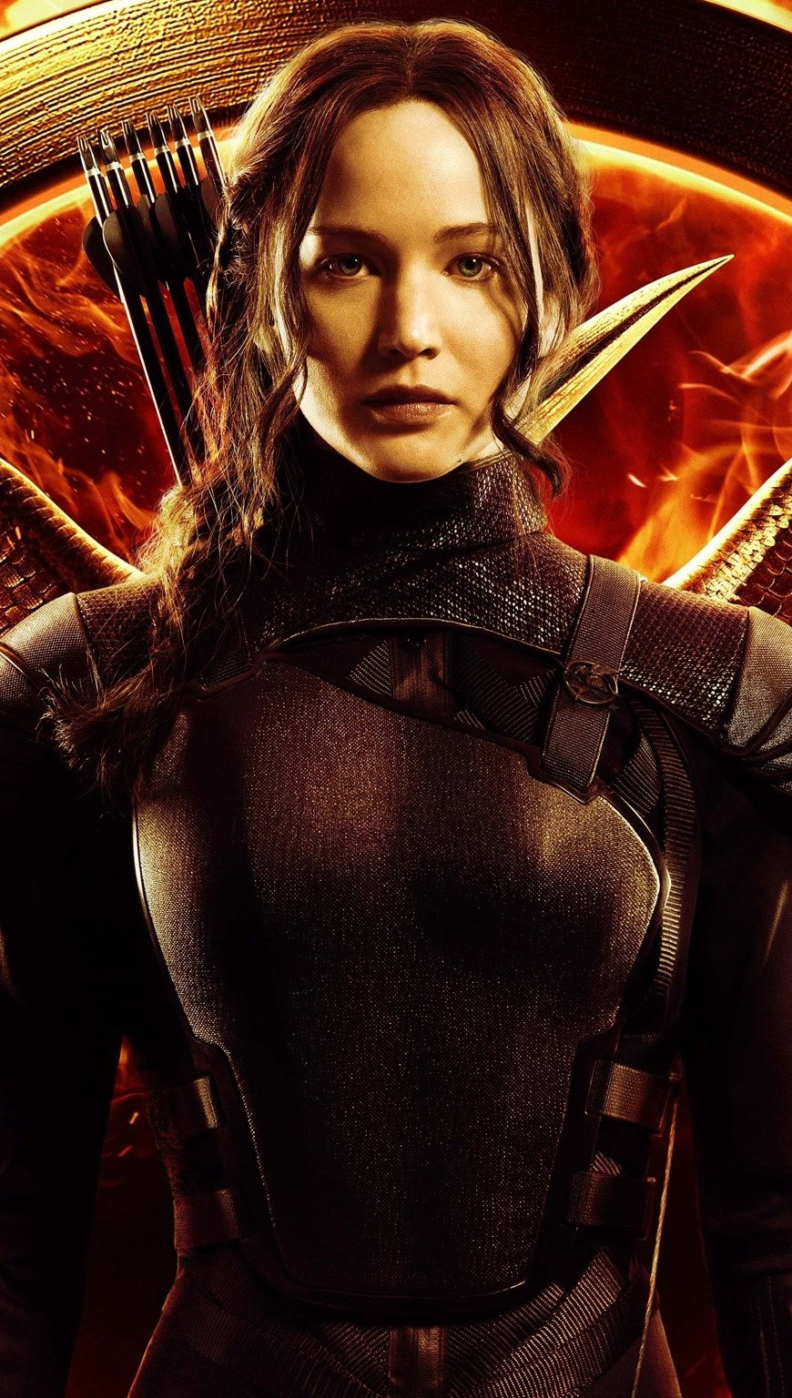 Wallpaper Jennifer Lawrence at Mockingjay 2014 Vertical