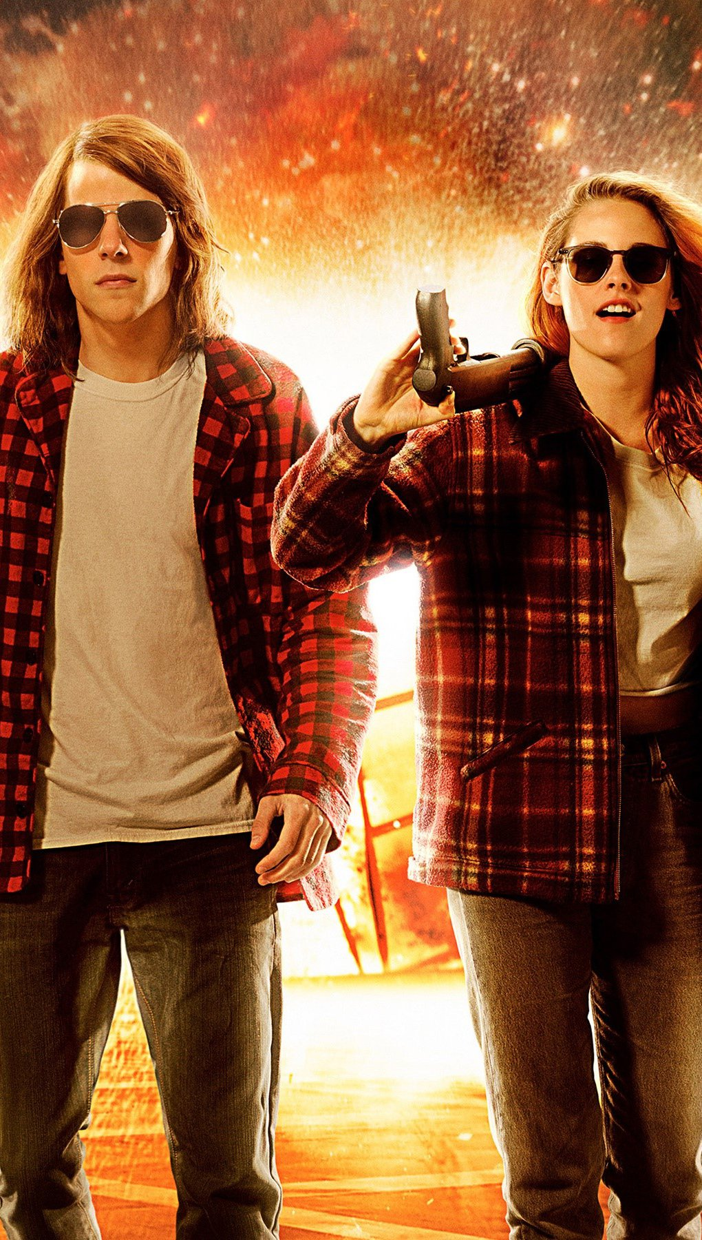 Wallpaper Jesse Eisenberg and Kristen Stewart Vertical
