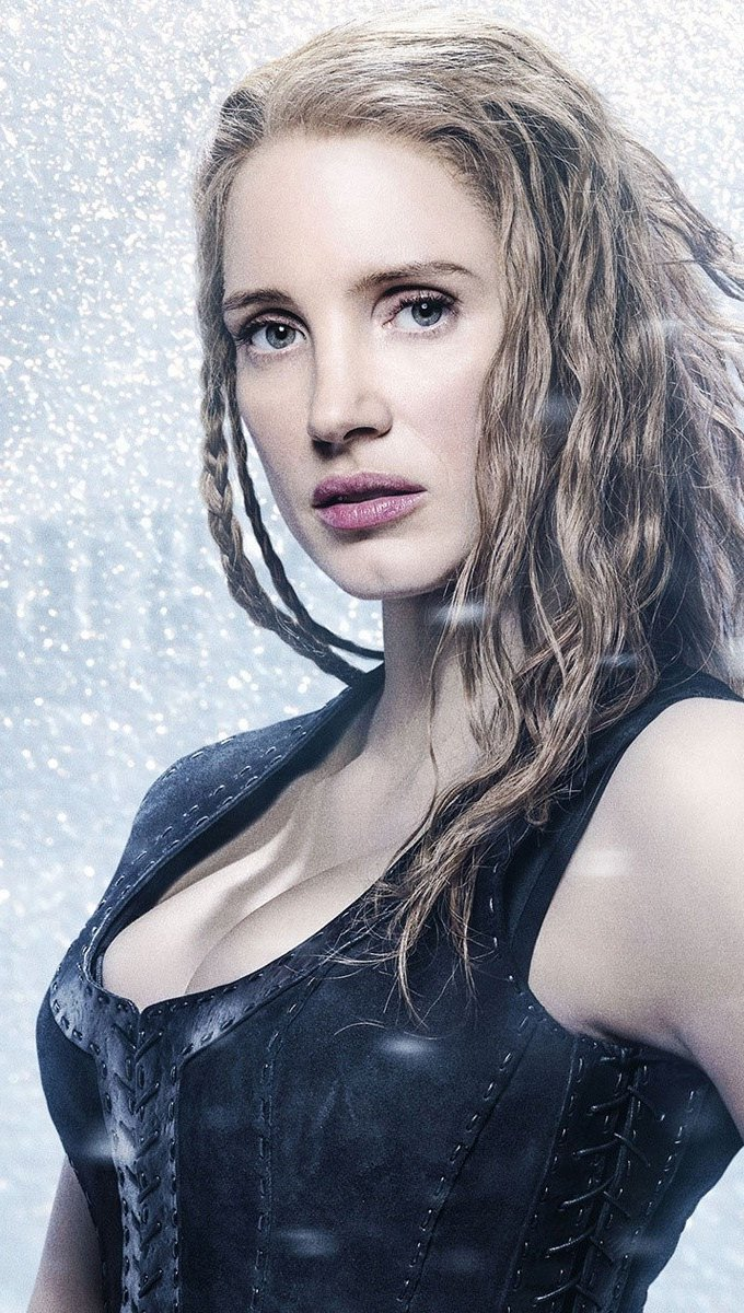Wallpaper Jessica Chastain in The Hunter and the Ice Queen Vertical