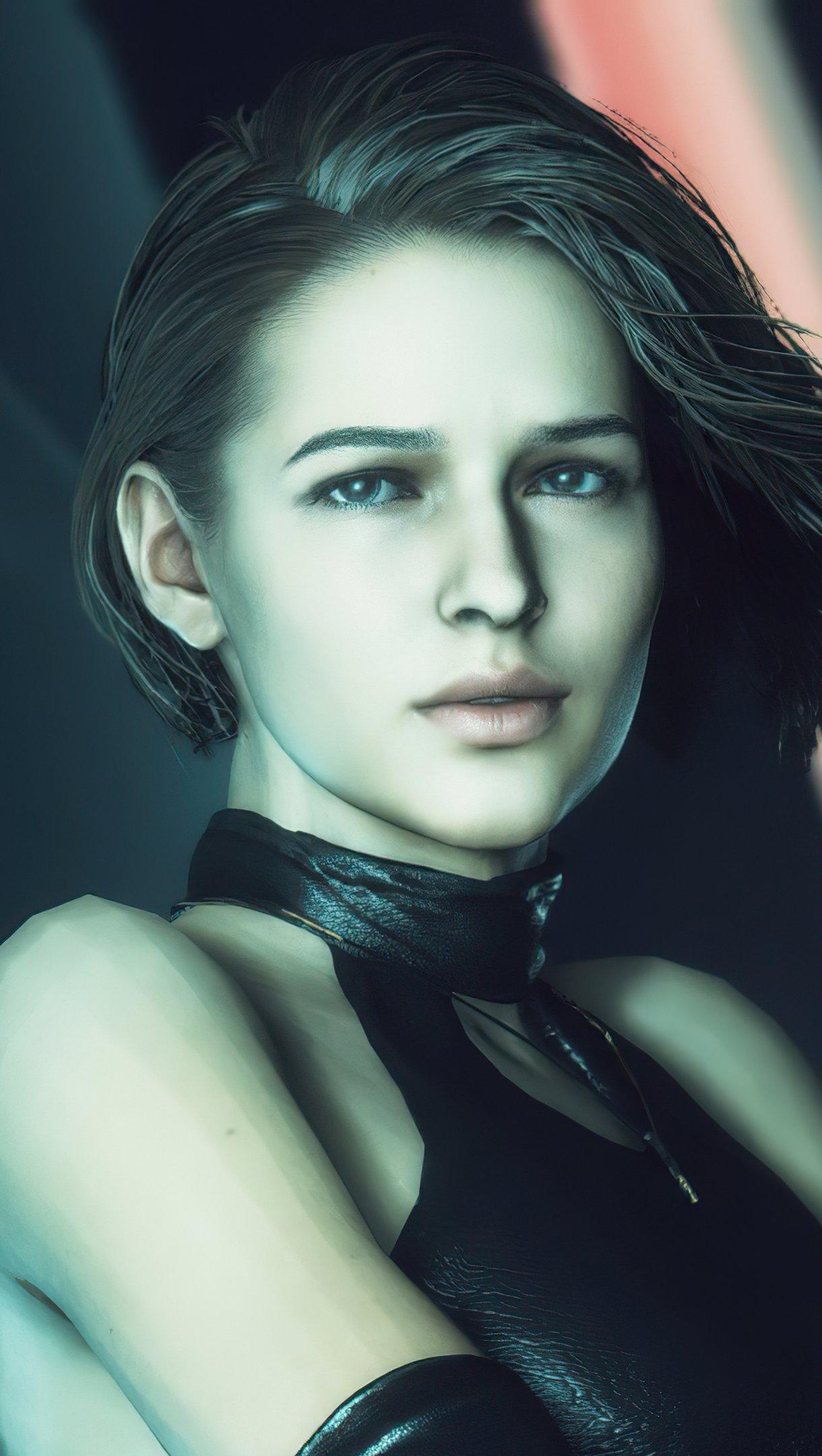 Fondos de pantalla Jill con pistola de Resident Evil Vertical