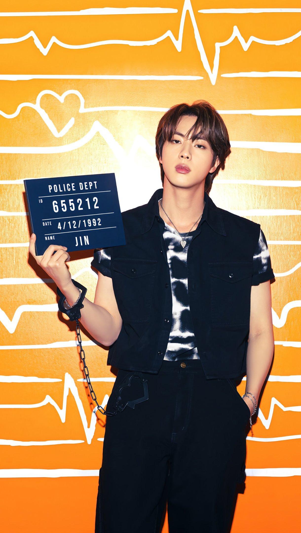Fondos de pantalla Jin de BTS Butter Vertical