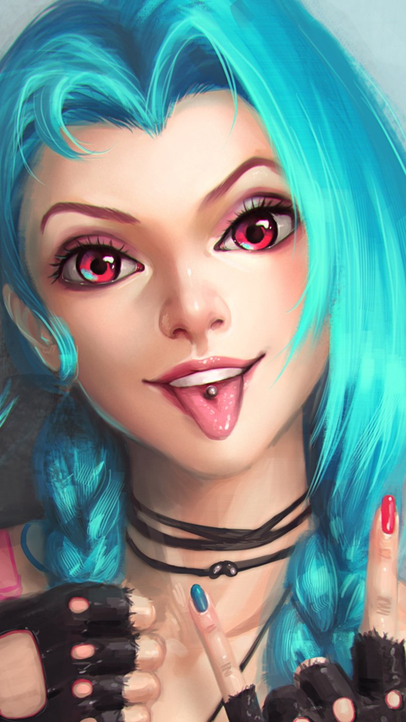Fondos de pantalla Jinx de League of Legends Vertical