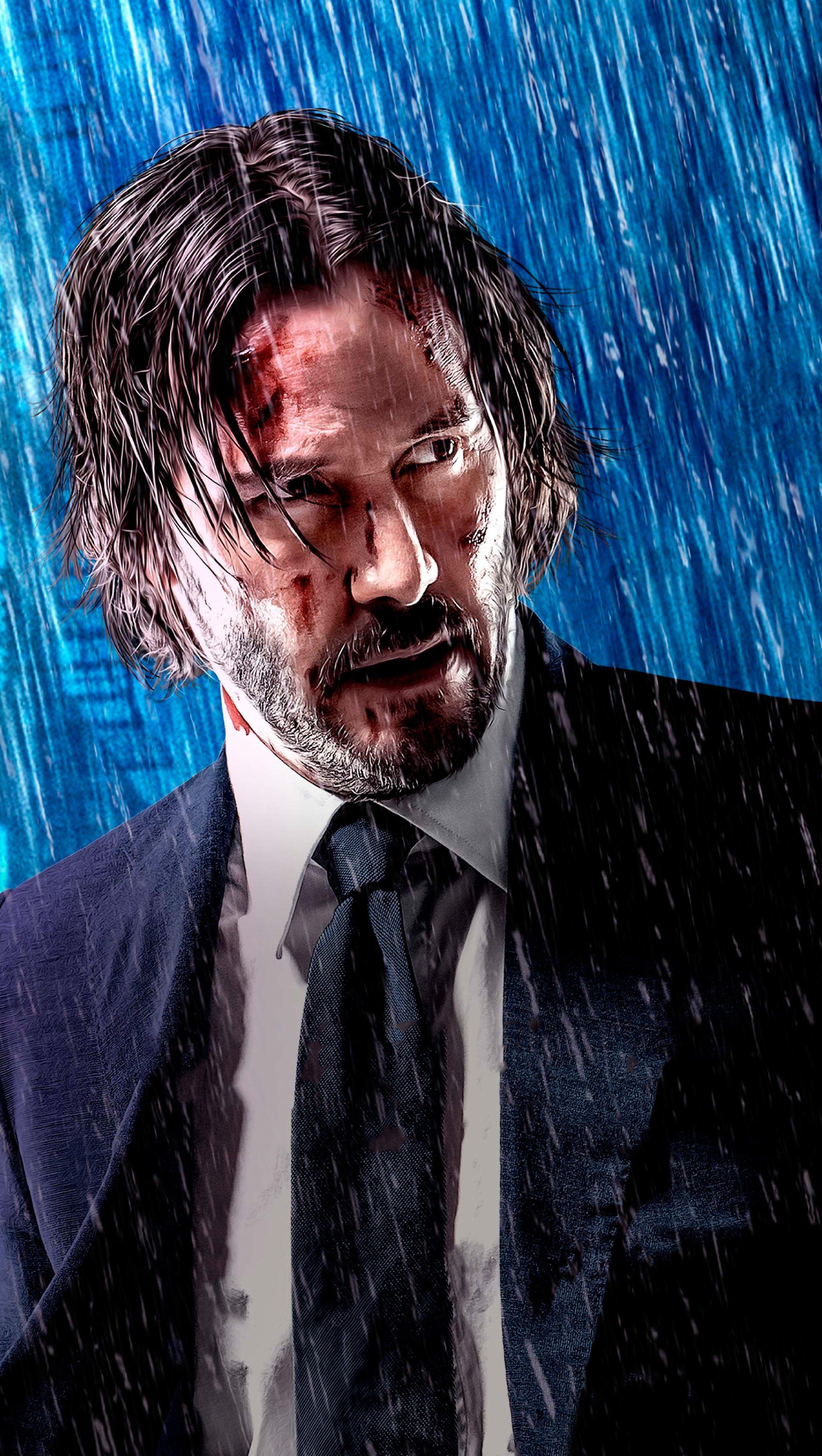 Wallpaper John Wick 3 Parebellum Keanu Reeves Vertical