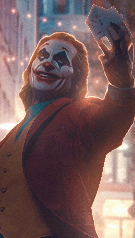 Wallpaper Joker with cards Vertical