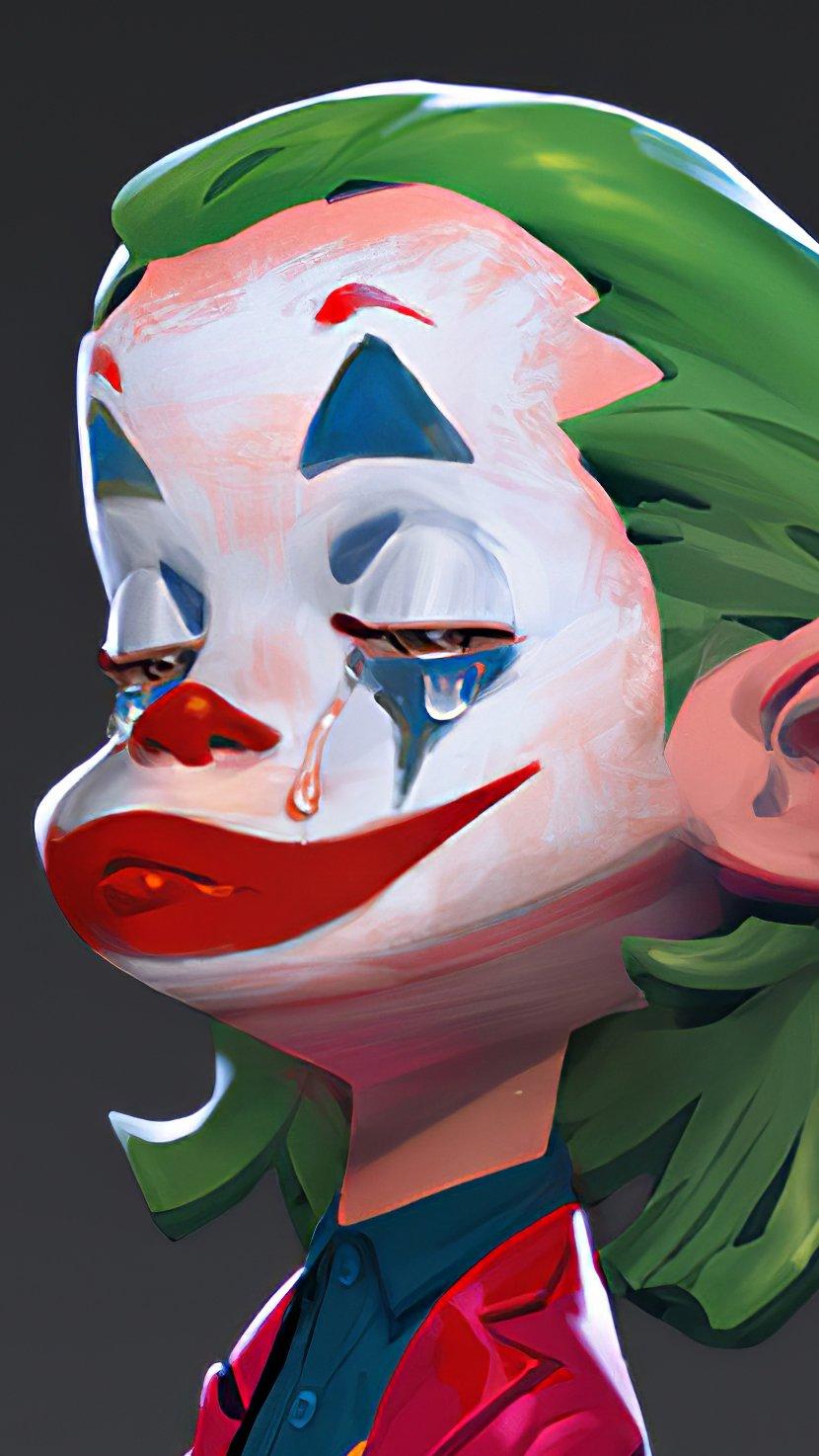 Wallpaper Joker with a rose Vertical