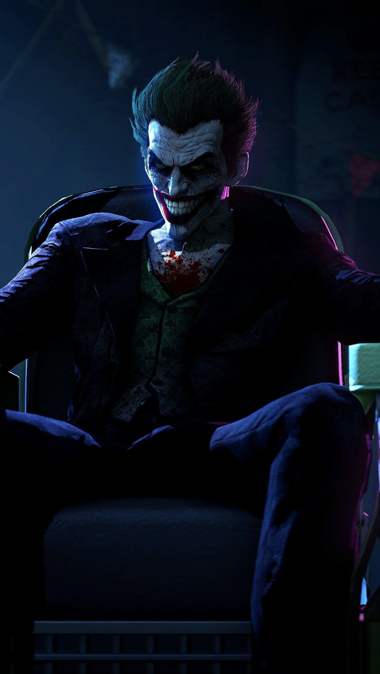 Wallpaper Joker (Joker) Batman Arkham Origins Vertical