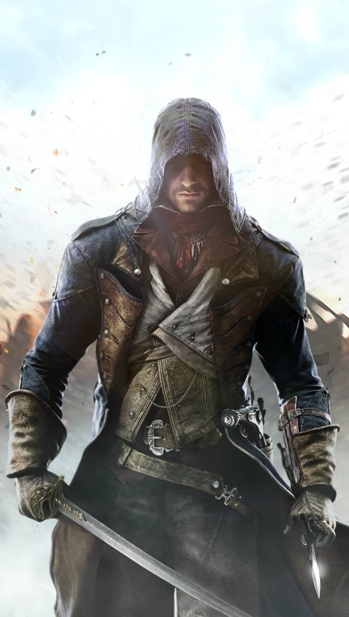 Wallpaper Assassins Creed Unity game Vertical