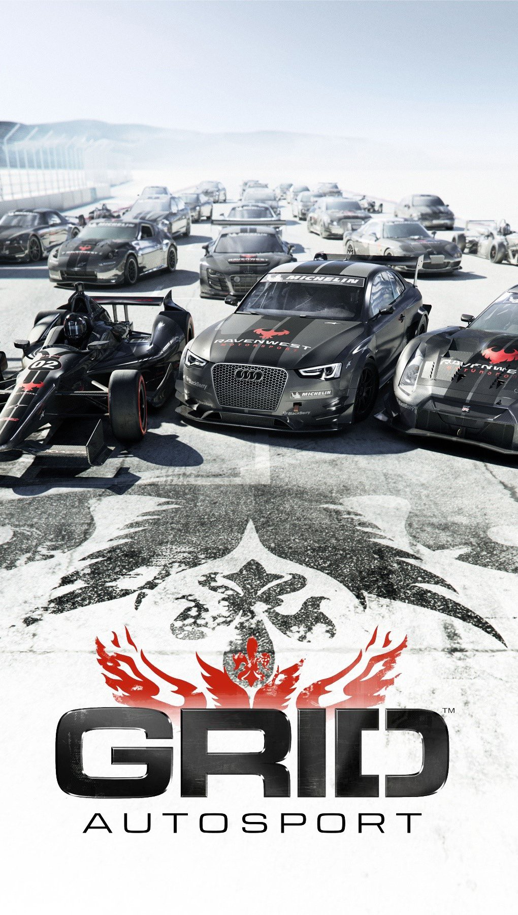 Wallpaper Game Grid Autosport Vertical