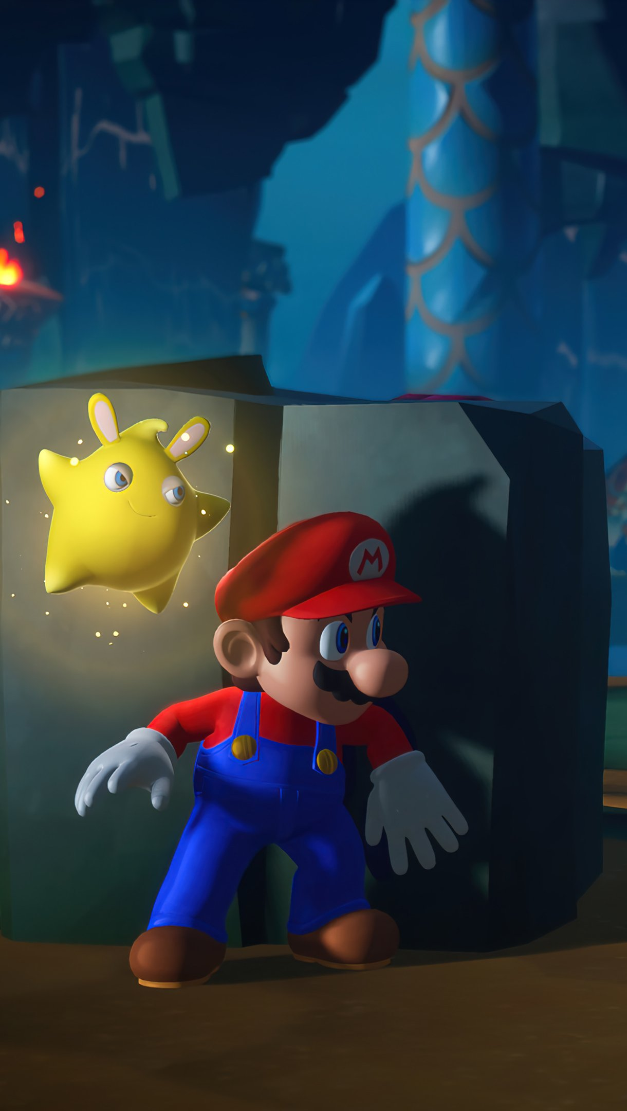 Wallpaper Mario Rabbids Sparks of Hope Game Vertical