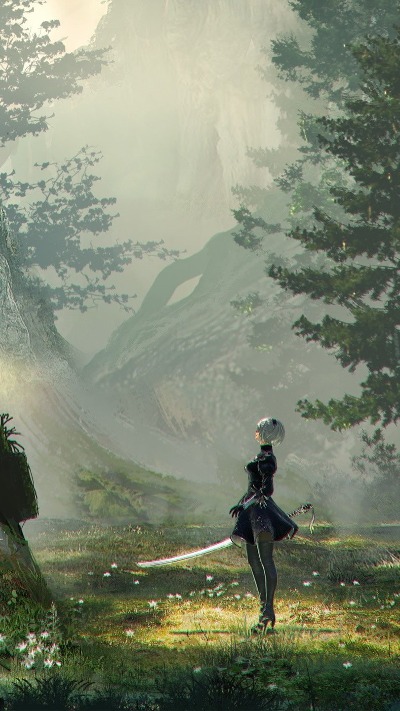 Wallpaper Game Nier Automata Vertical