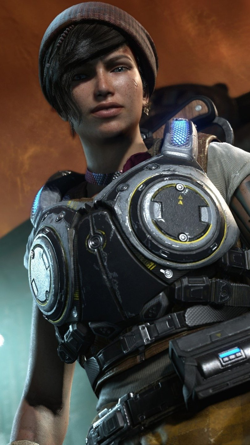 Wallpaper Kait Diaz from Gears Of War 4 Vertical