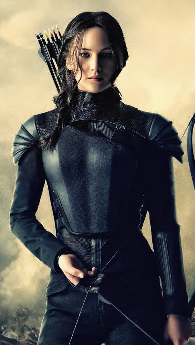 Wallpaper Katniss in Mockingjay Vertical
