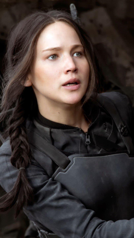 Fondos de pantalla Katniss escondiéndose en Sinsajo Vertical