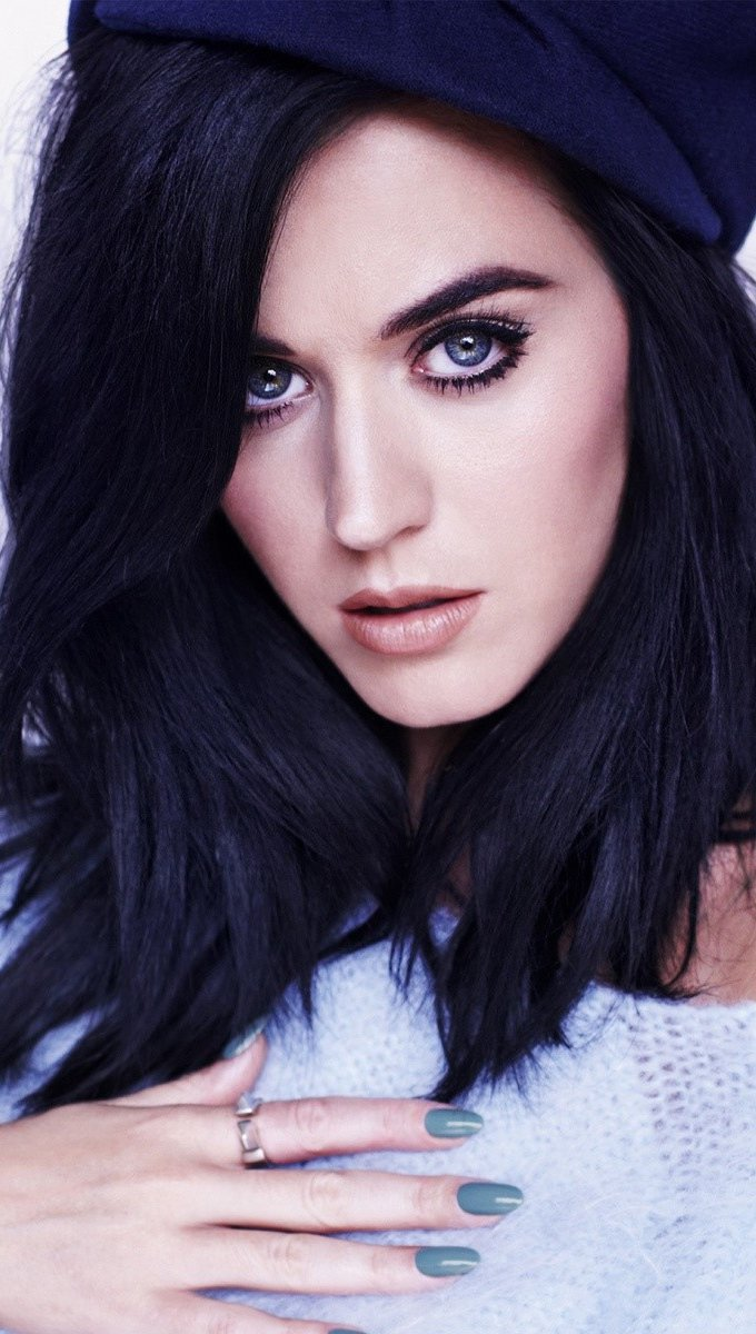 Wallpaper Katy Perry chestnut Vertical