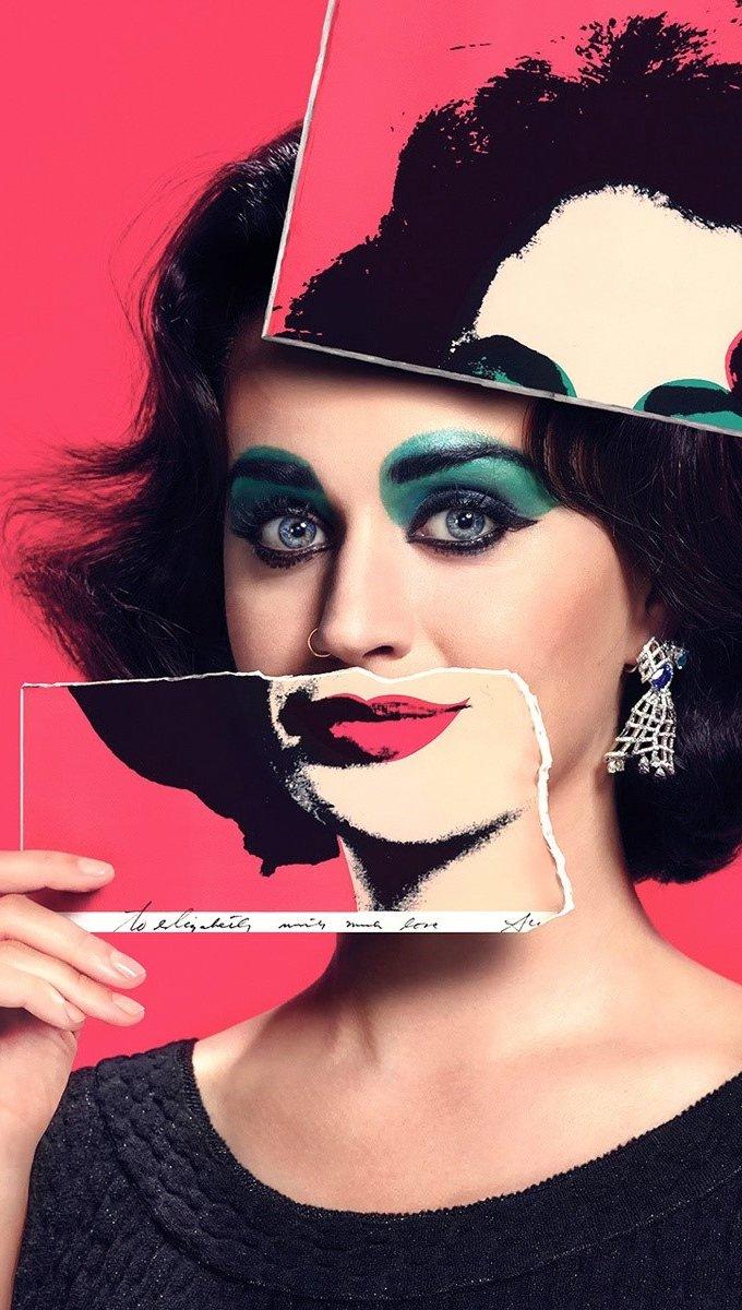 Wallpaper Katy Perry as Elizabeth Taylor Vertical