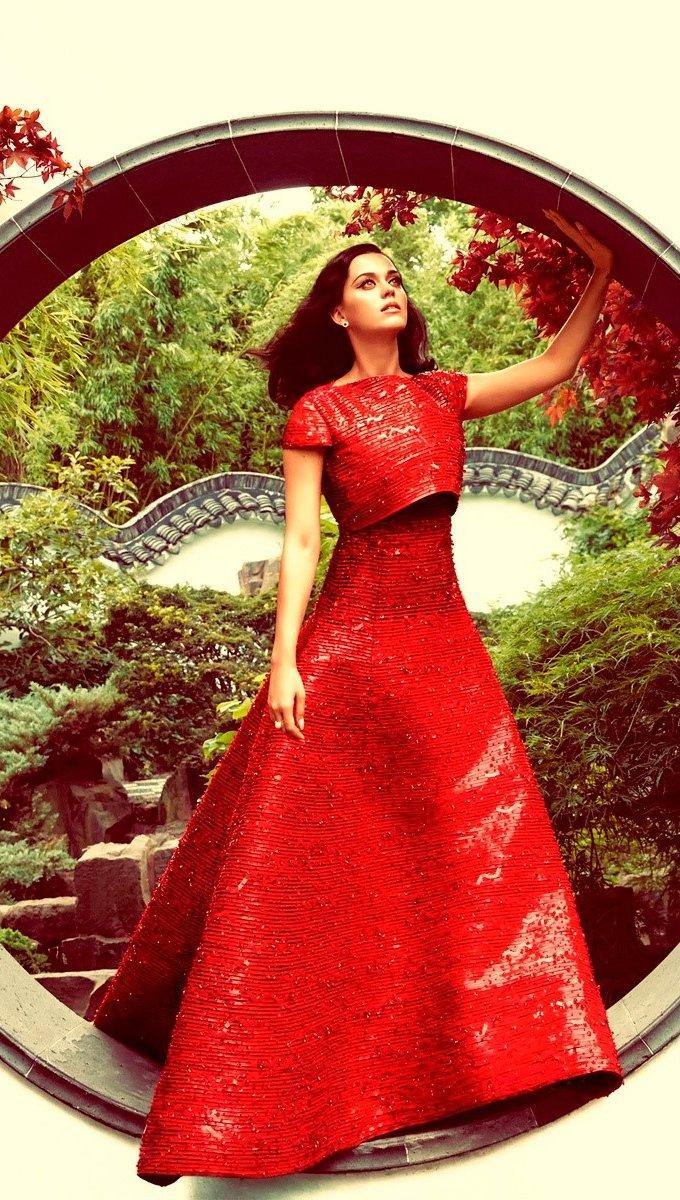Fondos de pantalla Katy Perry para Harpers Bazaar Vertical