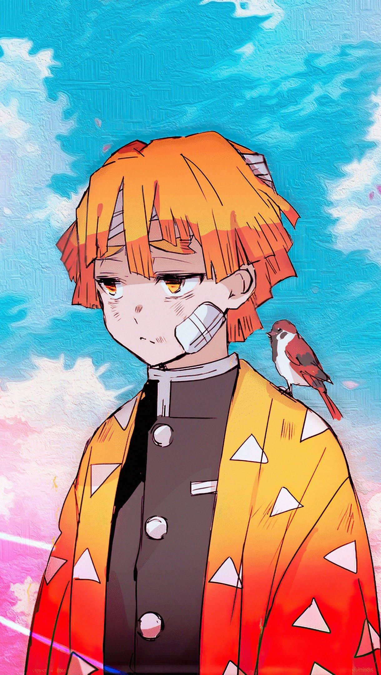 Anime Wallpaper Kimetsu no Yauba Zenitsu Agatsuma Vertical