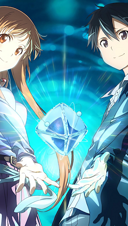 Fondos de pantalla Anime Kirito and Asuna de Sword Art Online Vertical