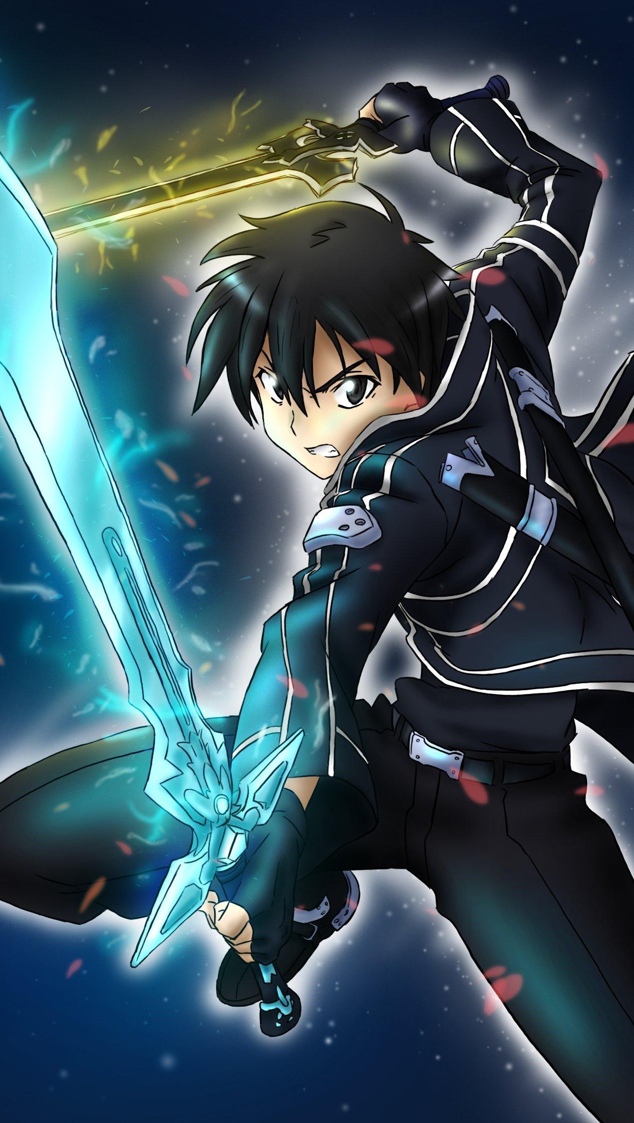 Anime Wallpaper Kirito Sword Art Online Vertical