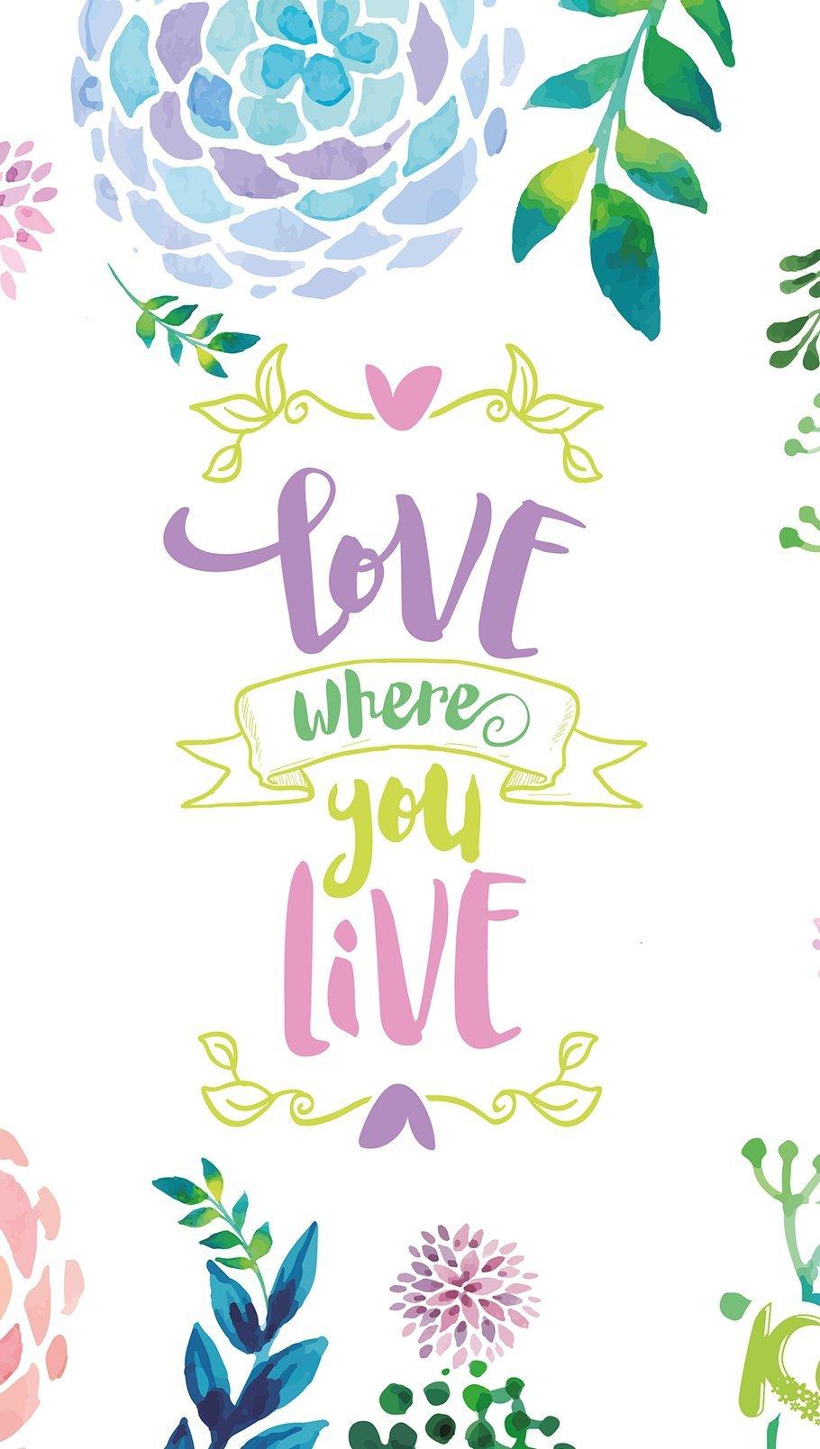 Fondos de pantalla Kiut Flores, Love where you live Vertical