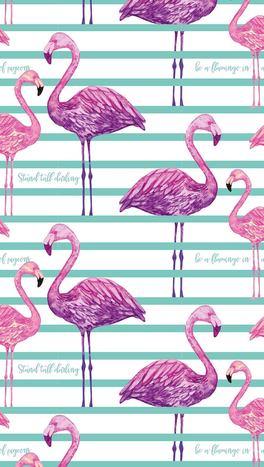 Wallpaper Kiut Flamingo pattern Vertical