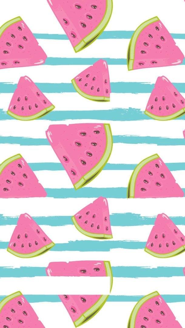 Wallpaper Kiut Watermelon Patterns Vertical