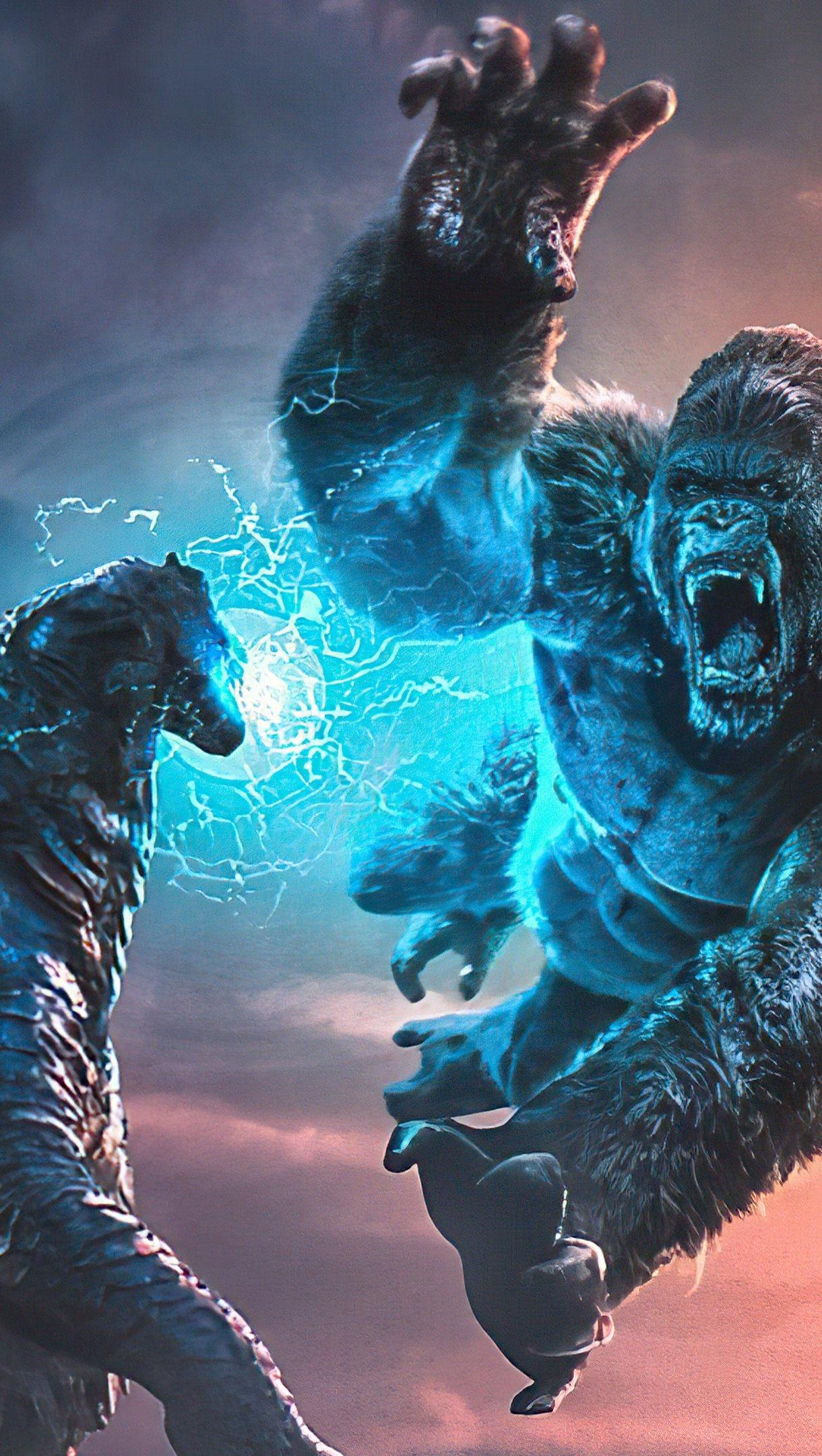 Fondos de pantalla Kong contra Gonzilla Vertical