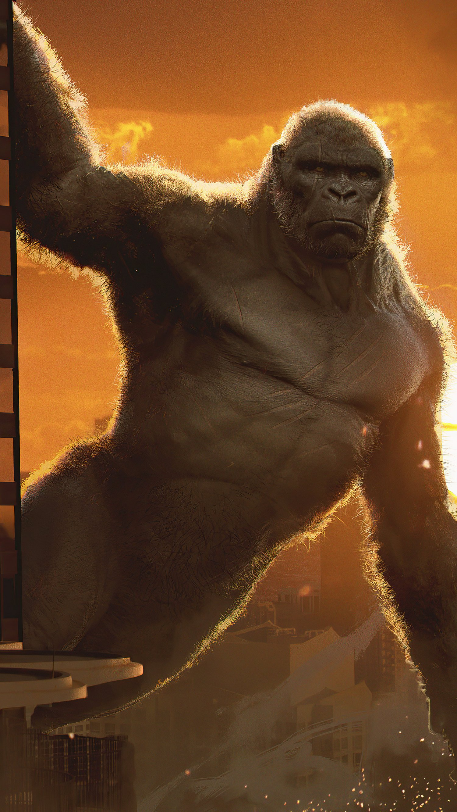 Fondos de pantalla Kong v Godzilla Vertical