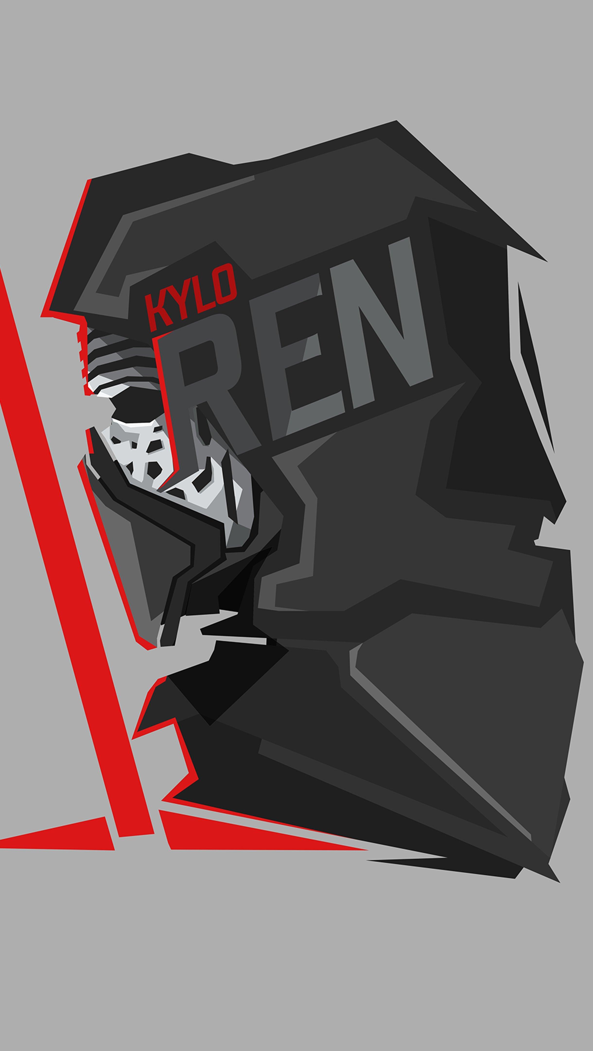 Fondos de pantalla Kylo Ren Star Wars Ilustración Vertical