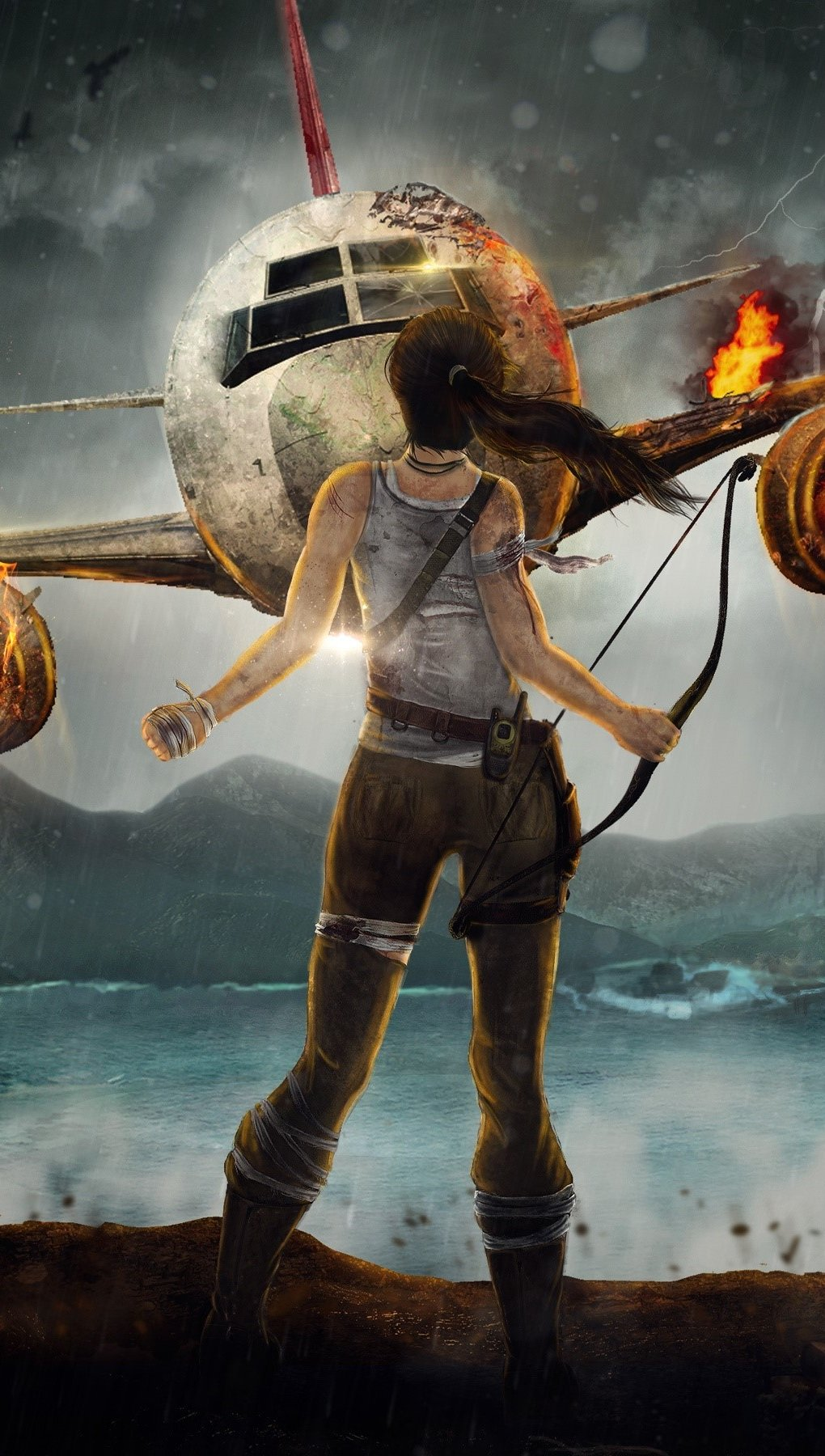 Wallpaper The adventure of Lara Croft Vertical