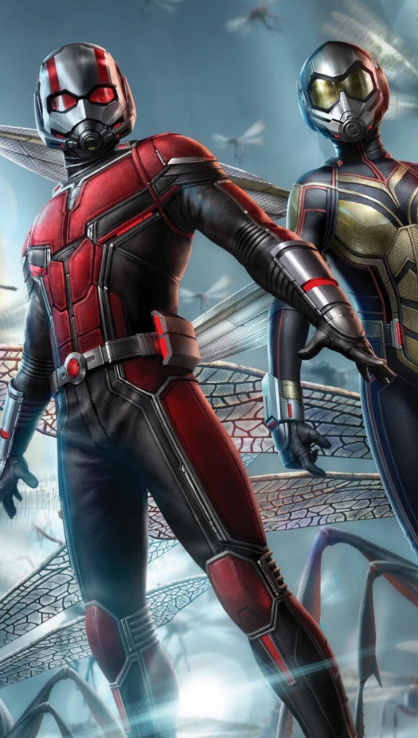 Fondos de pantalla La avispa y Ant Man Vertical