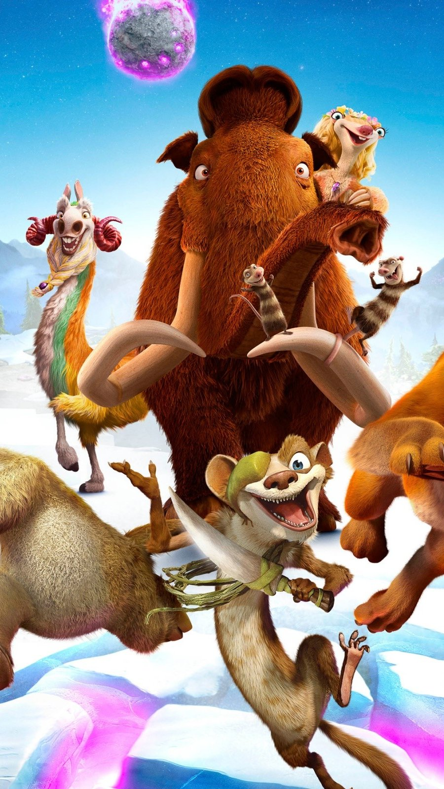 Wallpaper The ice age: clash of worlds Vertical
