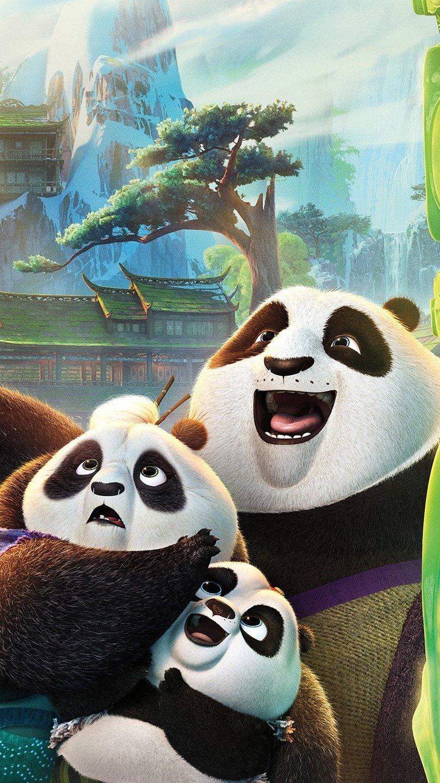 Wallpaper Po's family in Kung Fu panda Vertical