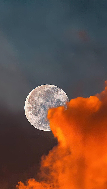 Fondos de pantalla La luna detras de nubes Vertical