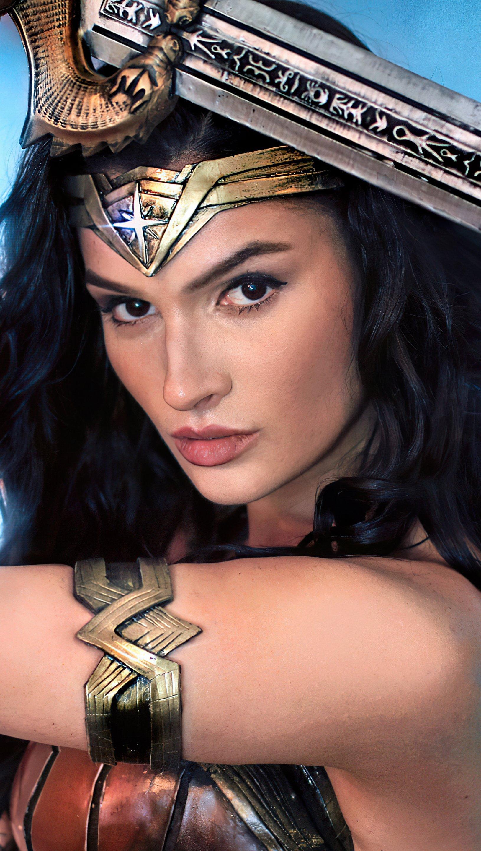 Wallpaper Wonder woman girl in cosplay Vertical