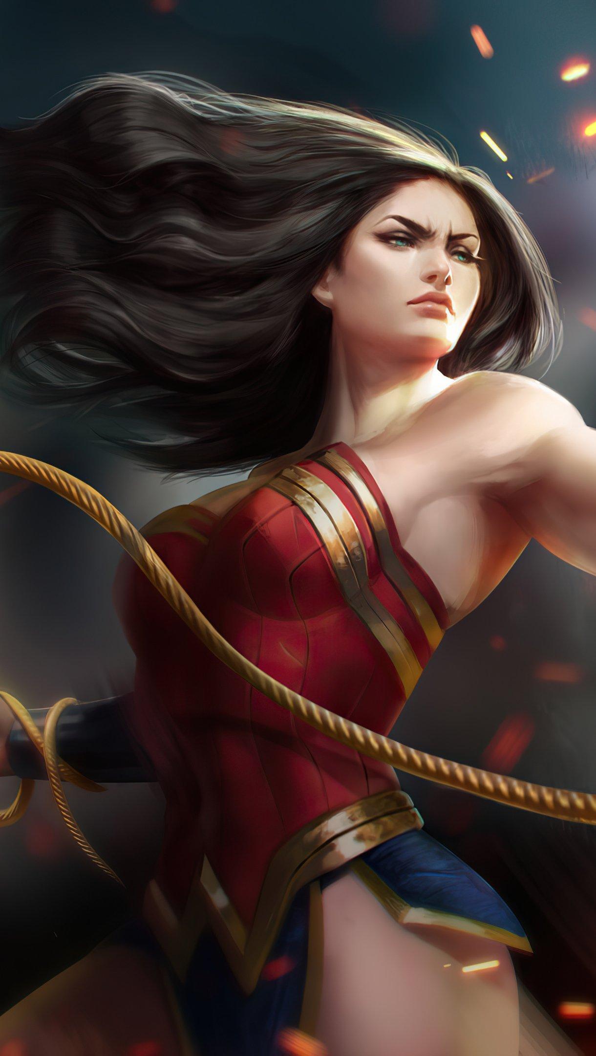 Fondos de pantalla La mujer maravilla como guerrera Vertical