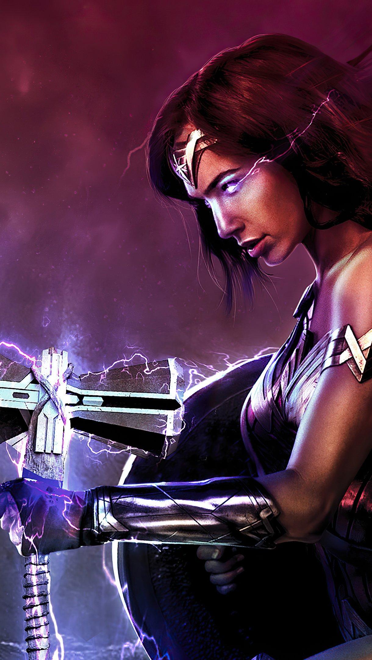 Fondos de pantalla La mujer maravilla con arma Vertical