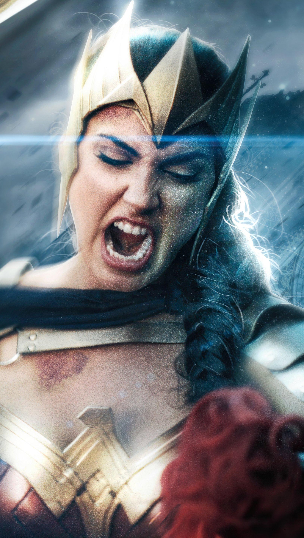 Wallpaper Wonder Woman angry Vertical
