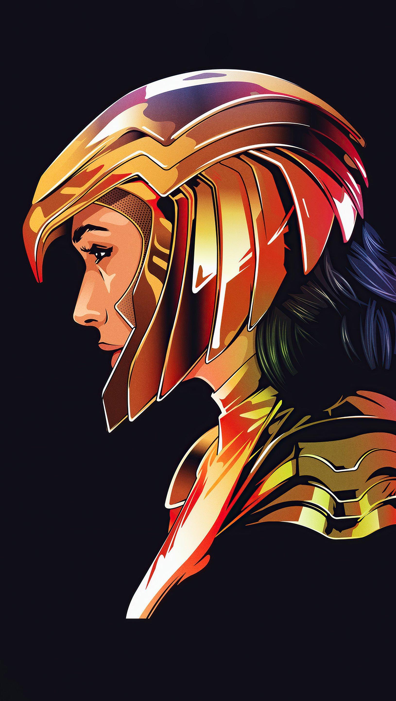 Wallpaper Wonder Woman Minimalist Vertical