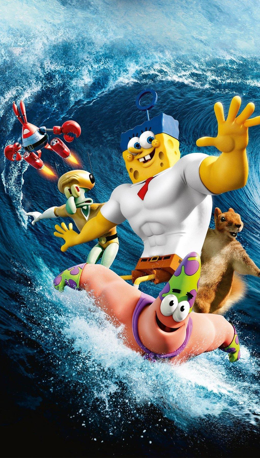 Wallpaper SpongeBob's movie Vertical